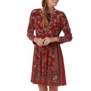 Lucky Brand Floral Boho Paisley Dress